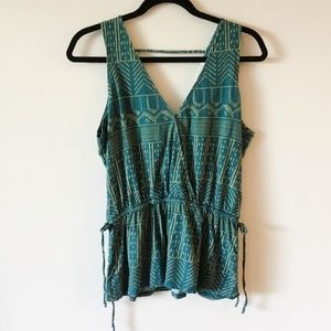 Anthro Pure + Good Teal Becca Tank Top